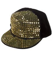 Retro Disco Gold Studded Cap from Chelsea Doll