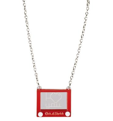 Retro Etch A Sketch I Love You Necklace from Punky Pins