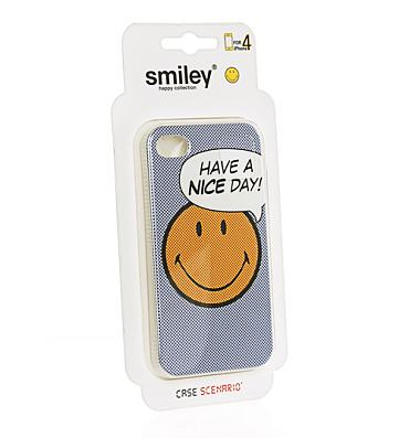 Retro Have A Nice Day Smiley iPhone 4 Case from Case Scenario