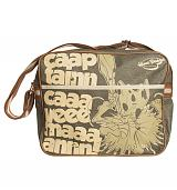 Retro Khaki Canvas Captain Caveman Messenger Bag