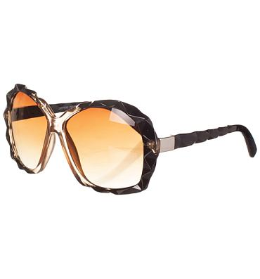 Retro Oversized Angled Detail Zaffran Sunglasses from Jeepers Peepers