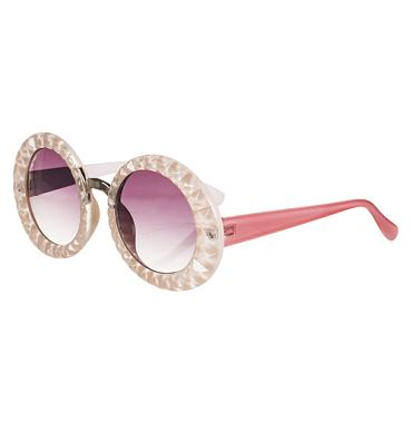 Retro Pink India Oversized Sunglasses from Jeepers Peepers