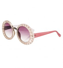 Retro Pink India Oversized Sunglasses from Jeepers Peepers [View details]