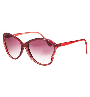 Retro Red Lily Butterfly Shaped Sunglasses from Jeepers Peepers