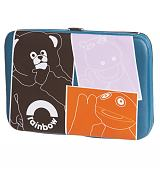 Retro Squares Rainbow Characters Clasp Wallet