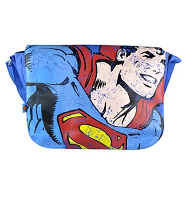 Retro Superman Figure PU Shoulder Bag