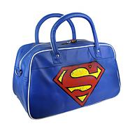 Retro Superman Logo PU Weekend Bag