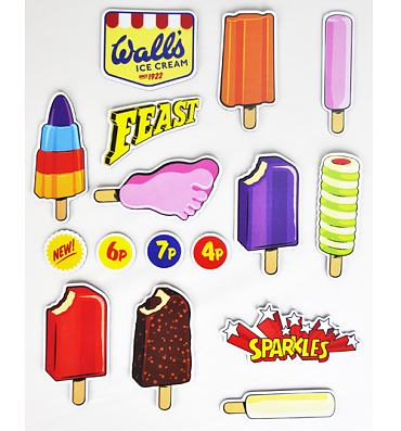 Retro Walls Ice Cream Classics Magnets