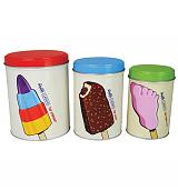 Retro Walls Ice Cream Classics Set Of 3 Canisters