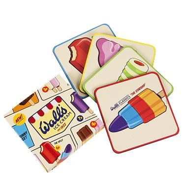 Retro Walls Ice Cream Classics Set Of 4 Coasters