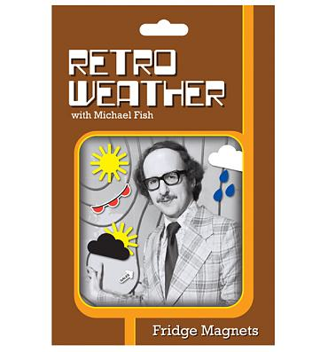 Retro Weather Fridge Magnets