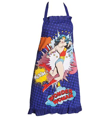 Retro Wonder Woman Apron With Frill