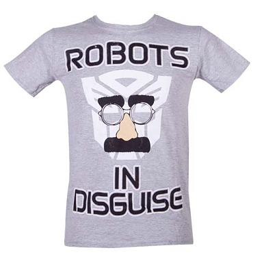 Men's Transformers In Disguise Grey T-Shirt