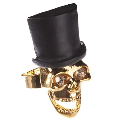 Rock N Roll Skull And Top Hat Ring from Chelsea Doll