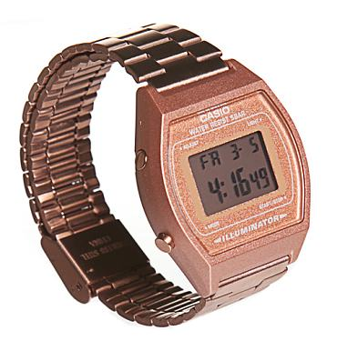 Rose Gold Retro Casio Illuminator Watch from Casio