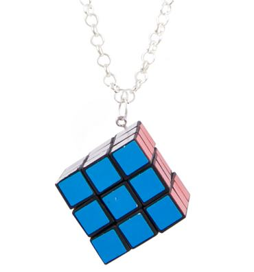 Rubik's Cube 3D Necklace from Bits & Bows