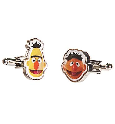 Sesame Street Bert And Ernie Cufflinks In Box