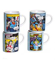 Set Of Four Mini Superman Mugs