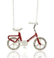 Silver Dream Wheelz Retro Bicycle Necklace from Me & Zena