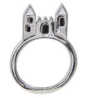 Silver Plated Cinderella Castle Stacking Ring from Disney Couture