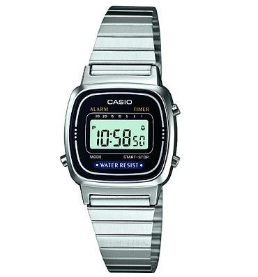 Silver Slimline Retro Digital Watch from Casio