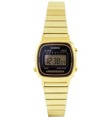 Slimline Gold and Black Watch from Casio
