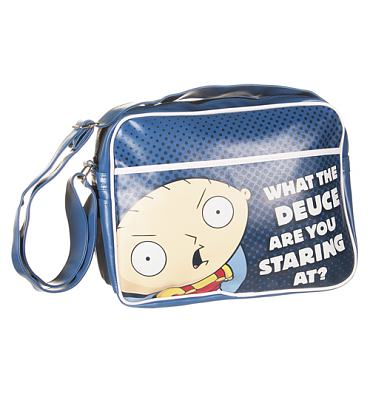 Stewie What The Deuce Family Guy PU Messenger Bag
