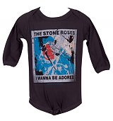 Kids Charcoal Stone Roses Wanna Be Adored Babygrow from Amplified Kids