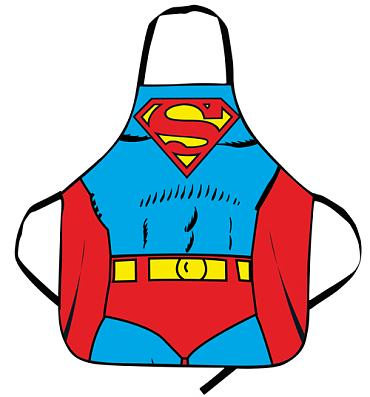 Superman Costume Apron In A Tube
