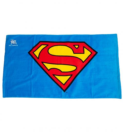 Cartoon Beach Towel Logo dc comics beach towel