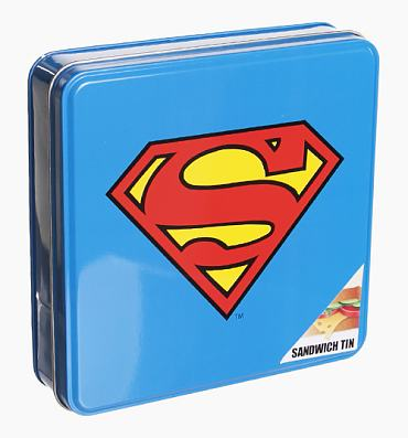 Superman Logo Sandwich Tin