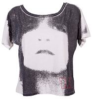 Ladies Cropped T-Rex Marc Bolan T-Shirt from Chaser LA