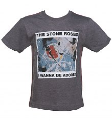 Kids Dark Grey Marl Stone Roses Wanna Be Adored T-Shirt from Amplified Kids [View details]