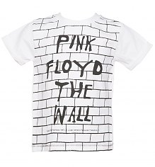 Kids White Pink Floyd The Wall T-Shirt from Amplified Kids [View details]