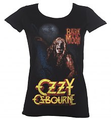 Ladies Black Bark At The Moon Ozzy Osbourne T-Shirt from Amplified [View details]