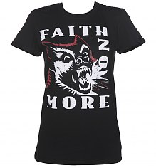 Ladies Black Faith No More Dog Rolled Sleeve Boyfriend T-Shirt [View details]