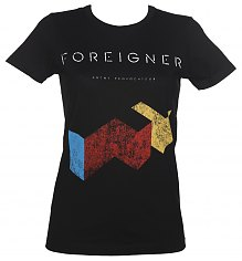 Ladies Black Foreigner T-Shirt from Goodie Two Sleeves [View details]