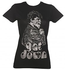 Ladies Black Get Down James Brown T-Shirt from Goodie Two Sleeves [View details]