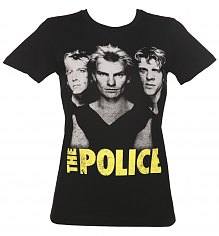 Ladies Black The Police Classic T-Shirt from Goodie Two Sleeves [View details]