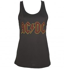 Ladies Charcoal AC/DC Logo Vest from Amplified [View details]