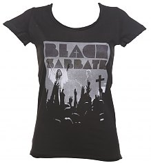 Ladies Charcoal Black Sabbath Victory T-Shirt from Amplified [View details]