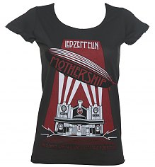 Ladies Led Zeppelin Mothership Charcoal T-Shirt from Amplified [View details]