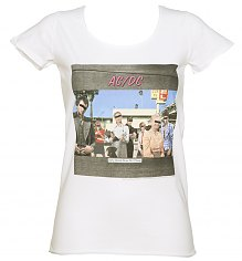 Ladies White Dirty Deeds Album Cover T-Shirt from Amplified [View details]
