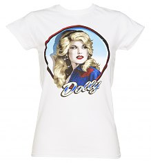 Ladies White Dolly Parton T-Shirt [View details]