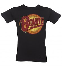 Men's Black David Bowie Diamond Dogs Logo T-Shirt [View details]