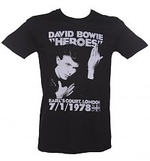Men's Black David Bowie Heroes T-Shirt [View details]