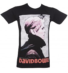 Men's Black David Bowie Portrait T-Shirt [View details]