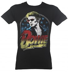 Men's Black David Bowie Smoking T-Shirt [View details]
