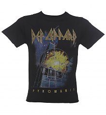 Men's Black Def Leppard Pyromania T-Shirt from Amplified [View details]