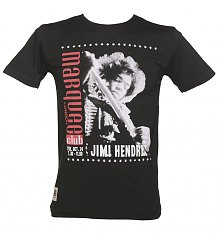 Men's Black Jimi Hendrix Marquee Club T-Shirt from Worn By [View details]